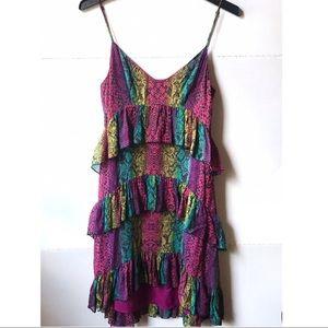 Betsey Johnsons Colorful Snake Print Ruffled Dress